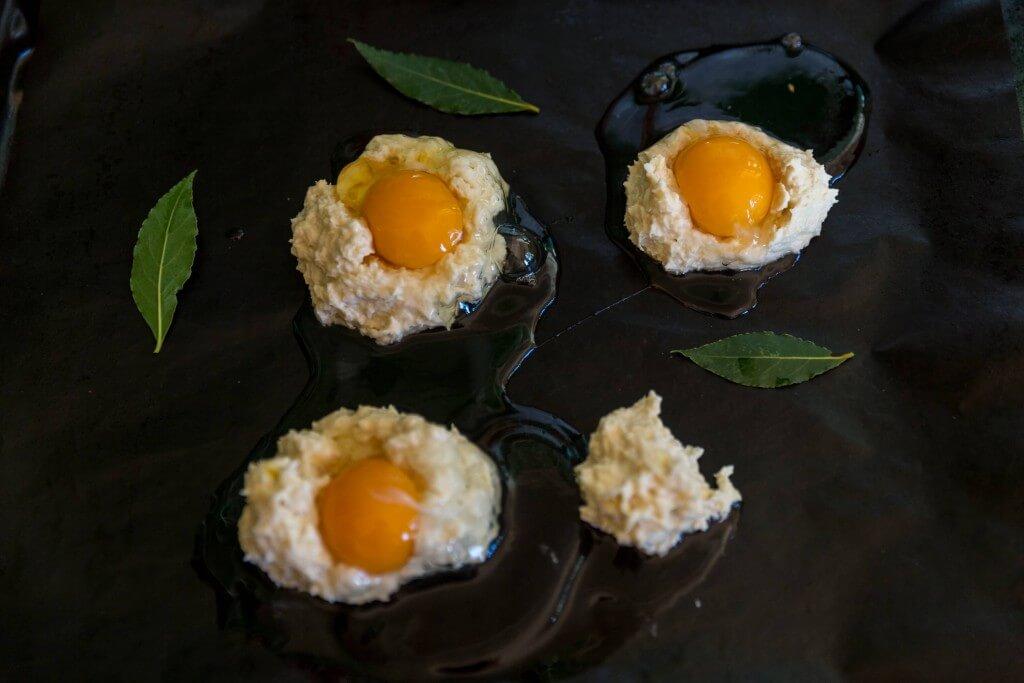 egg scones med lagerblad