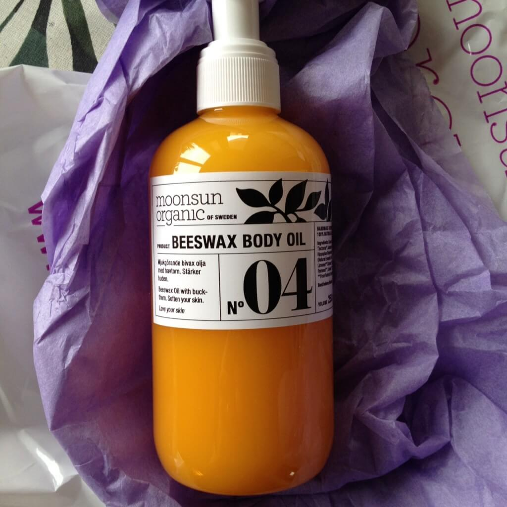 moonsun beeswax body oil
