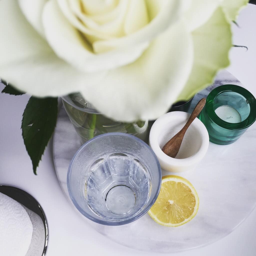 citronvatten på morgonen
