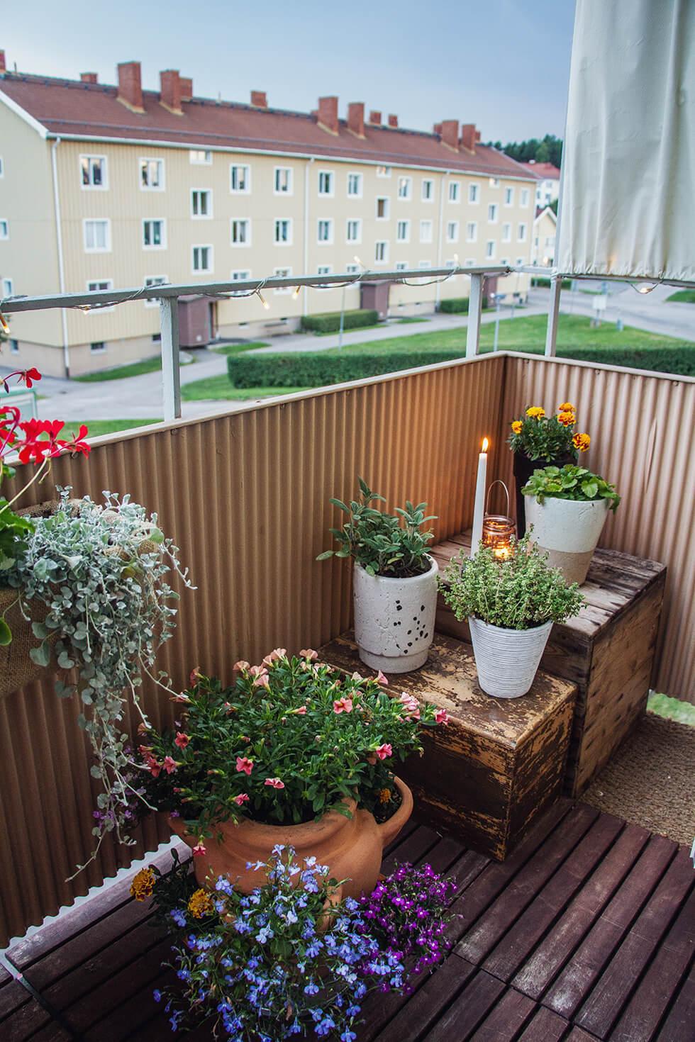 Glutenfri räkmacka på balkongen