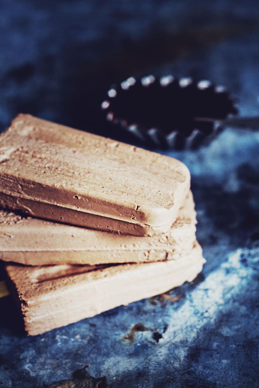 Jordnöt - och chokladglass, hälsosam