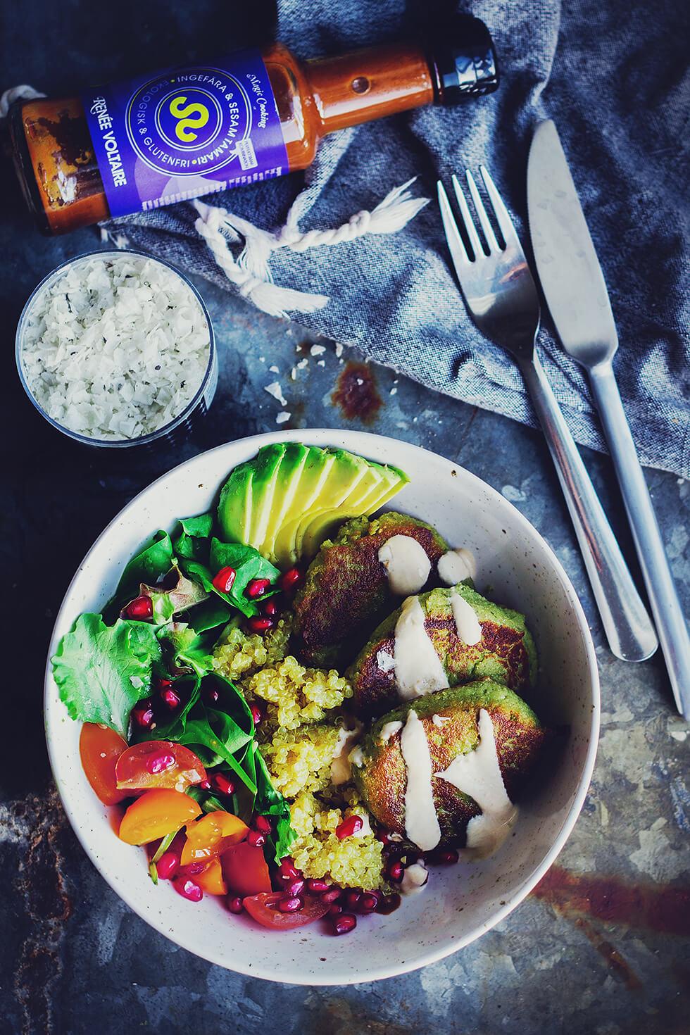 Vegetariska biffar med quinoa