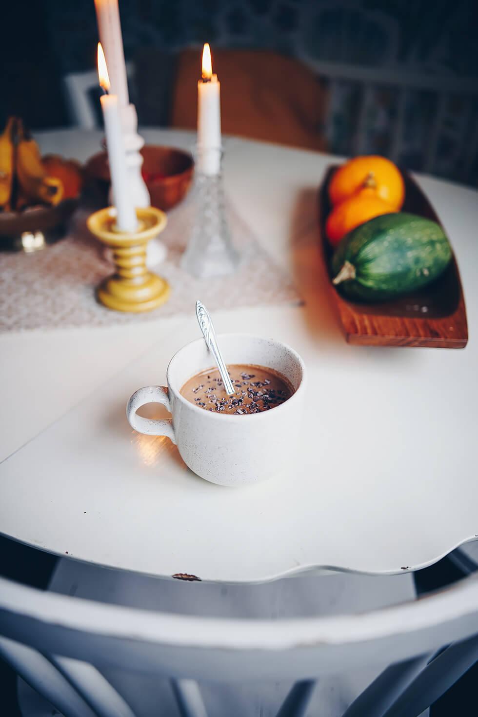 Mättande hälsosam chokladsmoothie