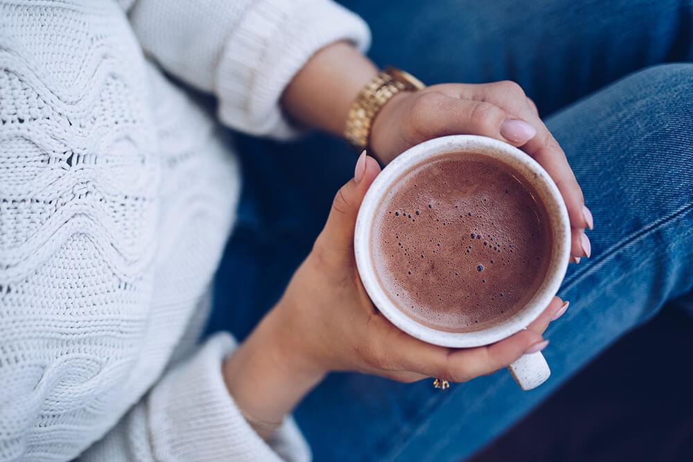Hälsosam varm choklad