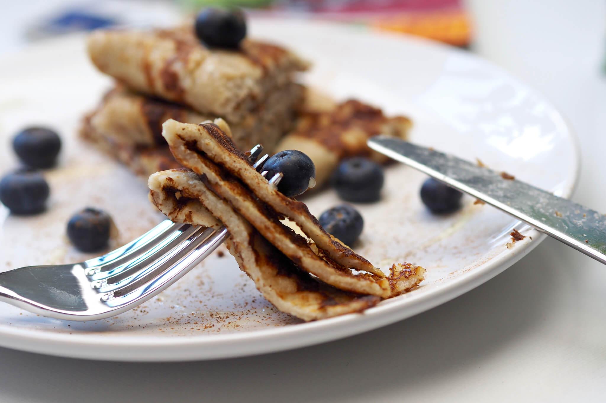 Glutenfria frukost pannkakor