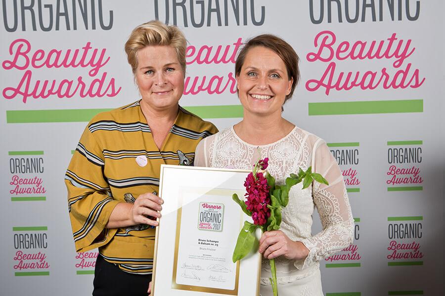 Bruns frisörer årets hårvårdsserie organic beauty awards