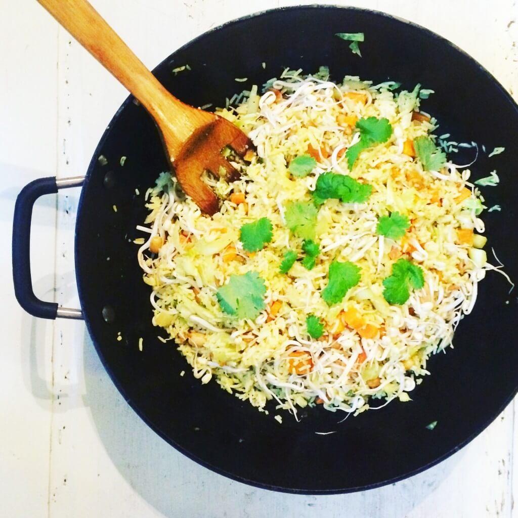 stekt ris med ägg