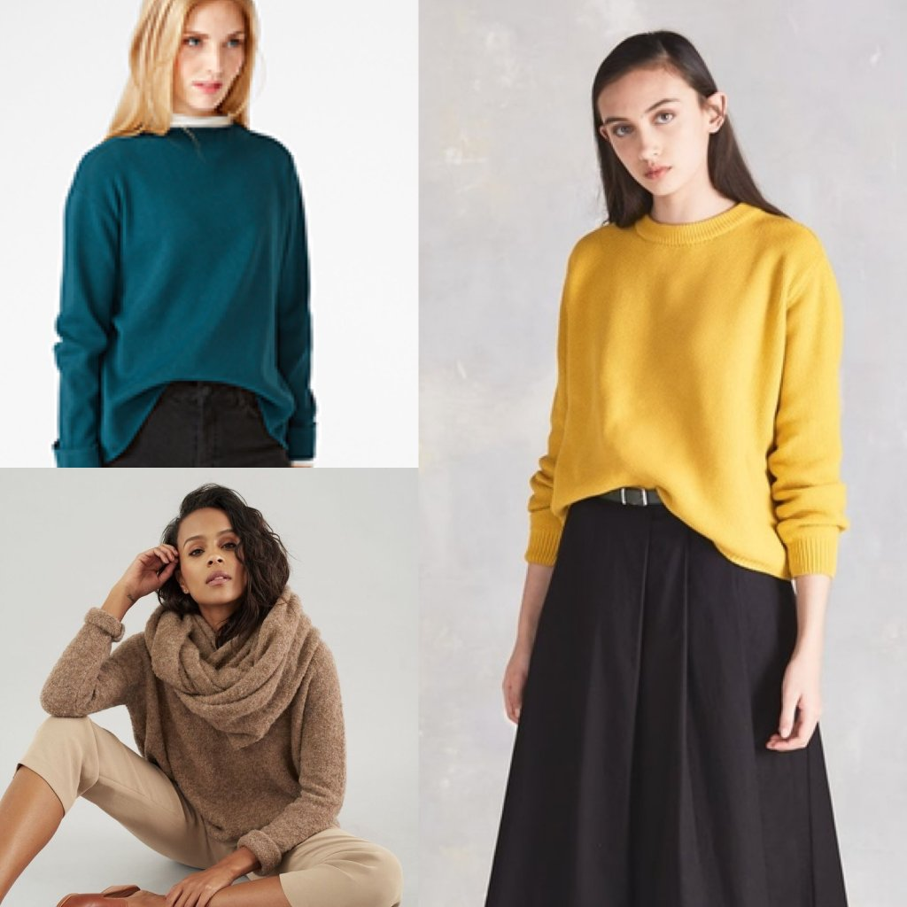 Organic knitwear jumpers