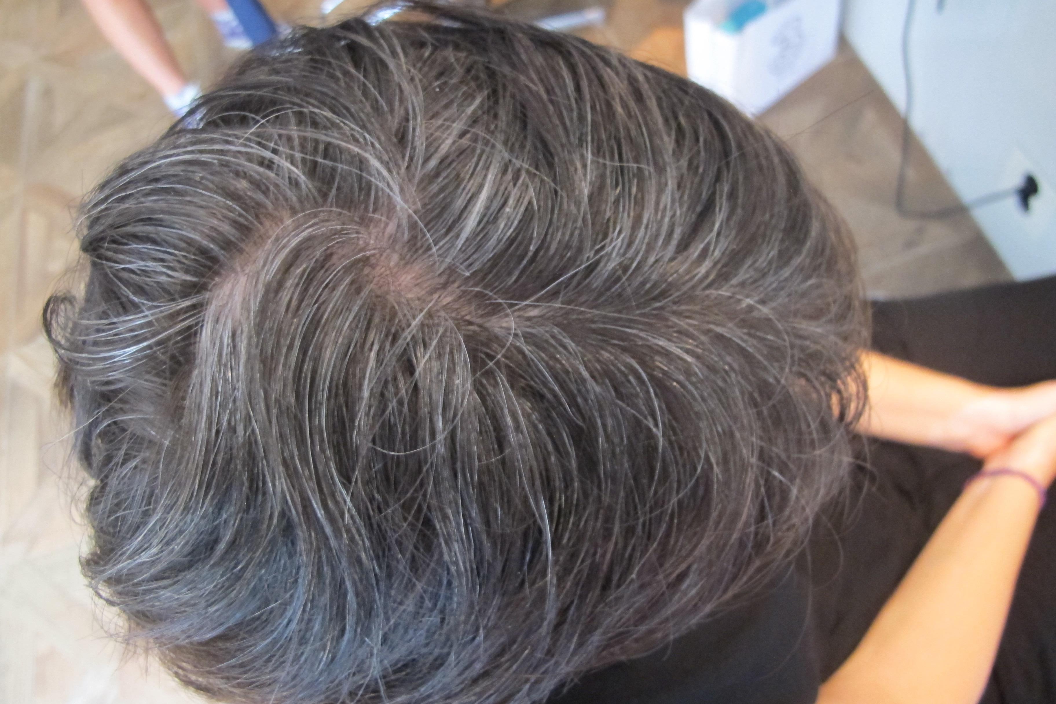 hårfärg grått hår