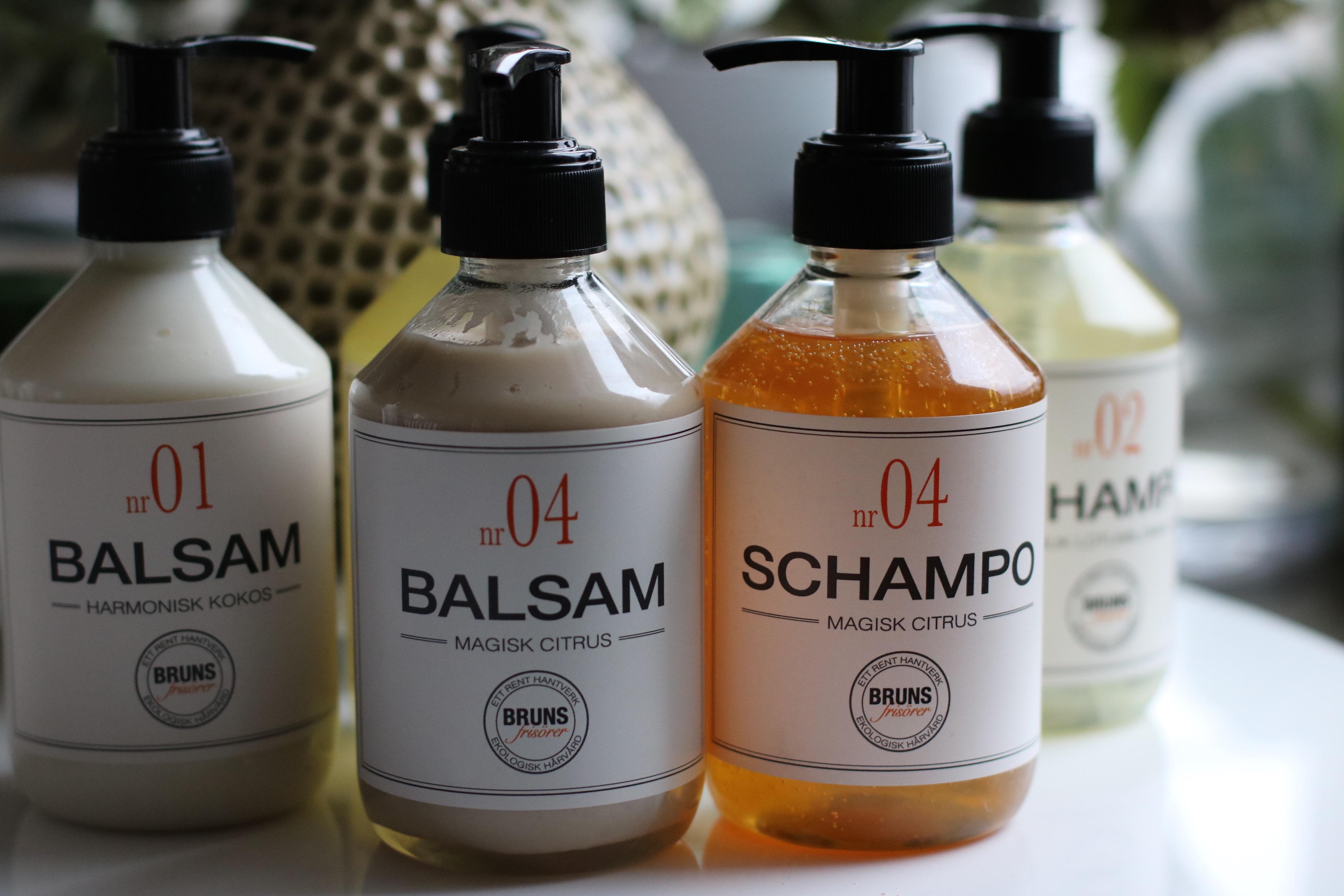 naturligt schampo och balsam