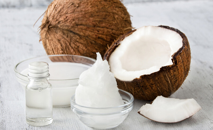 torr hårbotten kokosolja