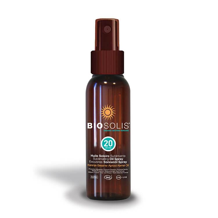 Biosolis Sublimating Sun Oil Spray SPF 20, 100 ml