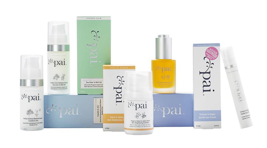 Pai Skincare produktsortiment