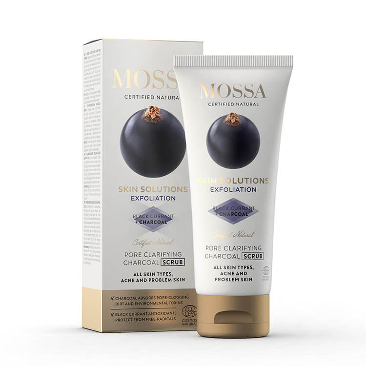 Mossa Skin Solutions Charcoal scrub, 60 ml