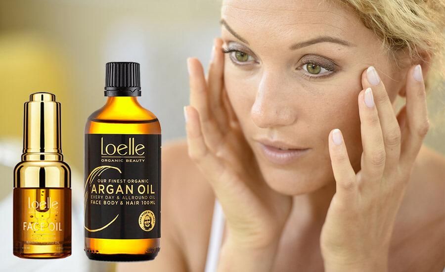 naturliga oljor till ansiktet