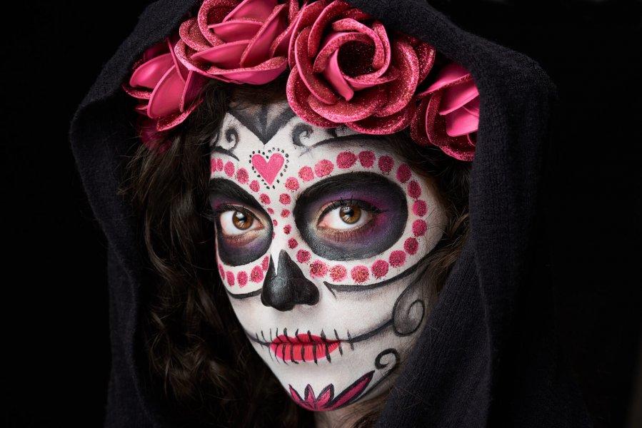 halloween skull smink