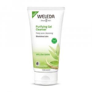 rengöring oren hud acne finnar weleda-purifying-gel-cleanser